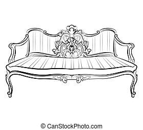 divano, reale, imperiale