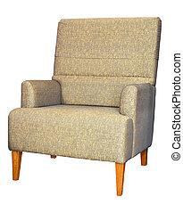 divano, ritaglio, bianco, isolato, percorso