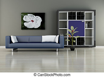 divano, scaffale