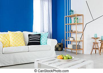 divano, stanza, ozio