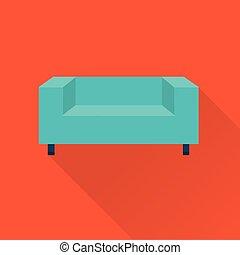 divano, vettore, icona