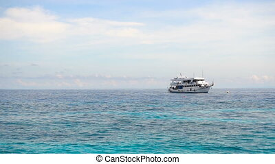 Dive boat at anchor - Dive boat near Ko Miang island,...