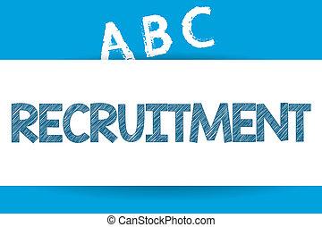 diventare, testo, esposizione, lavoro, recruitment., segno, membro, concettuale, foto, risultato, nuovo, ditta, o
