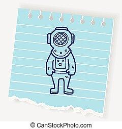 diver doodle