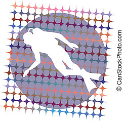 Diver. Vector illustration
