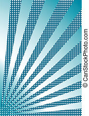 Divergent blue rays