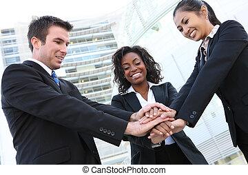 divers, équipe, business