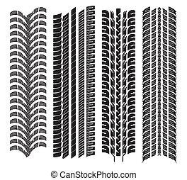 divers, bandes roulement, pneu