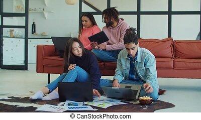 divers, créer, nouveau, projet, freelancers, business
