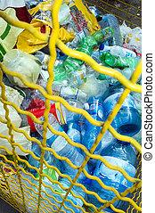divers, déchets, plastique