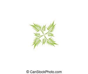 divers, feuilles, blanc, arrière-plan., vecto, vert, icône, isolé, plants., arbres, formes