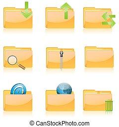 divers, fichier, icônes