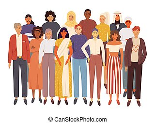 divers, gens, groupe multiracial, multiculturel