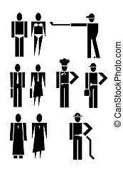 divers, gens, métiers