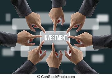 divers, investissement, equipe affaires