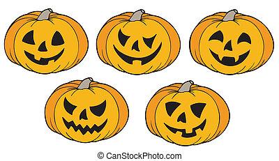 divers, potirons, halloween