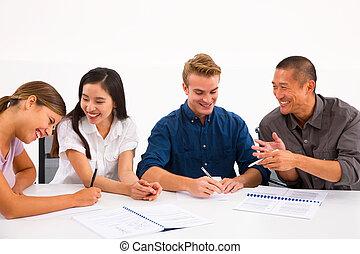divers, réunion, professionnels
