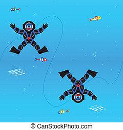Divers seamless pattern