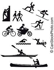 divers, sports, caractères
