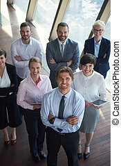 diverse business people group standing together as team in...