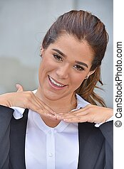 Diverse Business Woman And Happiness Wearing Suit