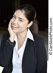 Diverse Business Woman Laughing
