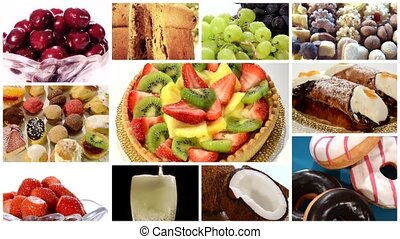 diverse desserts collage - desserts collage including...