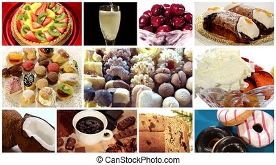 diverse desserts collage