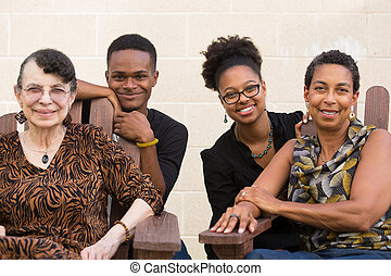Diverse family portrait - Closeup portrait, diverse,...