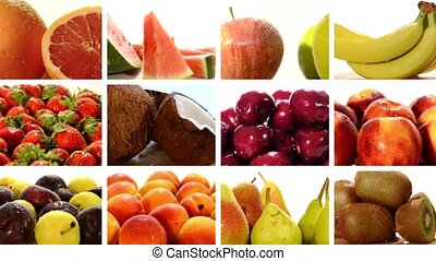 diverse fruits collage