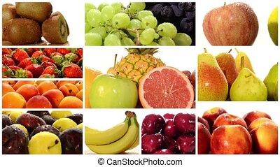 Diverse fruits montage