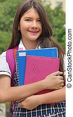 Diverse Girl Student And Happiness