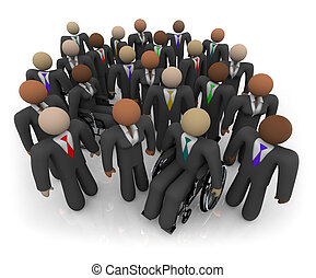 Diverse Group of Business People - A group of men and women...