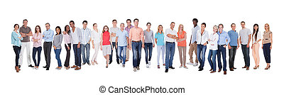 Diverse group of people - Large group of diverse people. ...