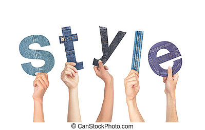 Diverse Hands Holding The Word Style