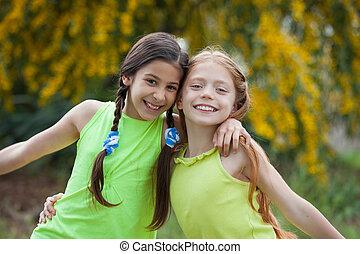 diverse happy smiling, kids