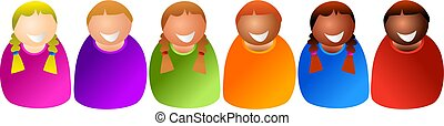 diverse kids - colourful children