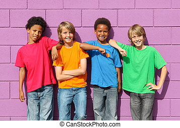 diverse kids - group of diverse mix race kids
