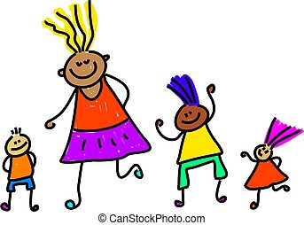 diverse kids - happy and diverse group of children - toddler...