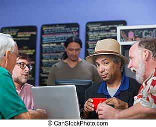 Diverse Men Talking