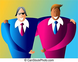 diverse partners - happy and diverse business partnership