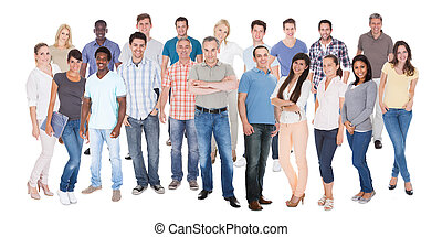 Diverse People In Casuals