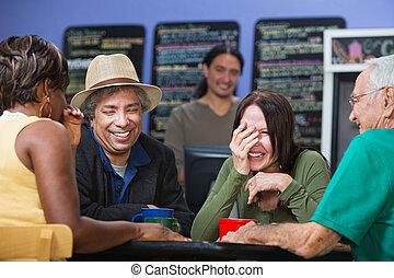Diverse People Sharing Jokes