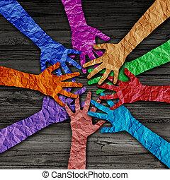 Diverse People Team