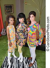 Diverse Retro Ladies Posing