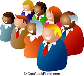 diverse team - happy business team