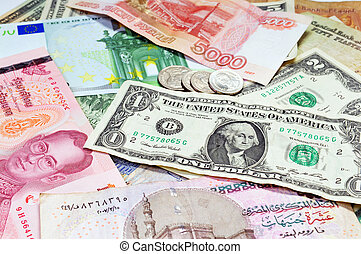 diverses monnaies