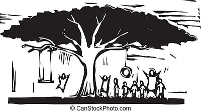 diversión, árbol