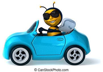 diversión, abeja