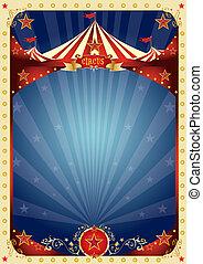 diversión, cartel, circo